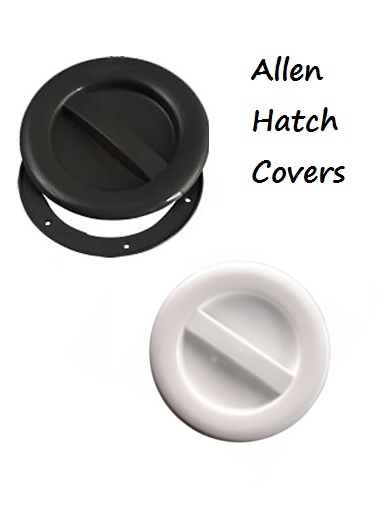 Allen Hatch Inspection covers (screw in) - Medium Black or white